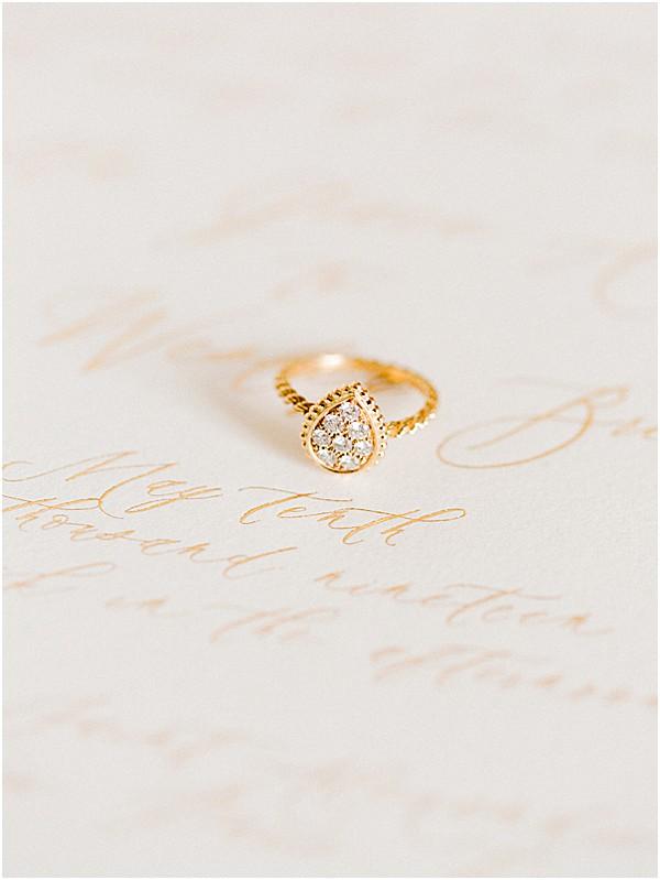 teardrop wedding ring
