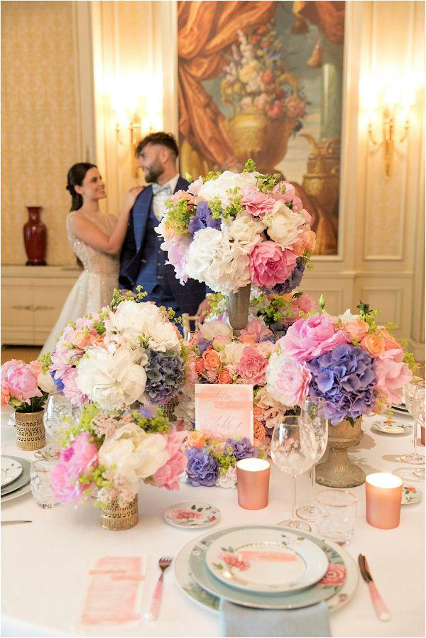 wedding table at Shangri La Paris