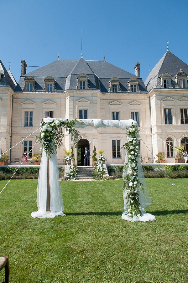 Chateau Fengari outdoor ceremony