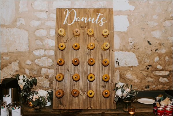 Donut board at wedding reception * Image by tub of jelly
