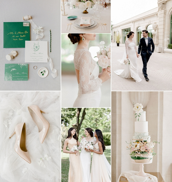 Emerald and Blush Wedding in Paris Snapshot