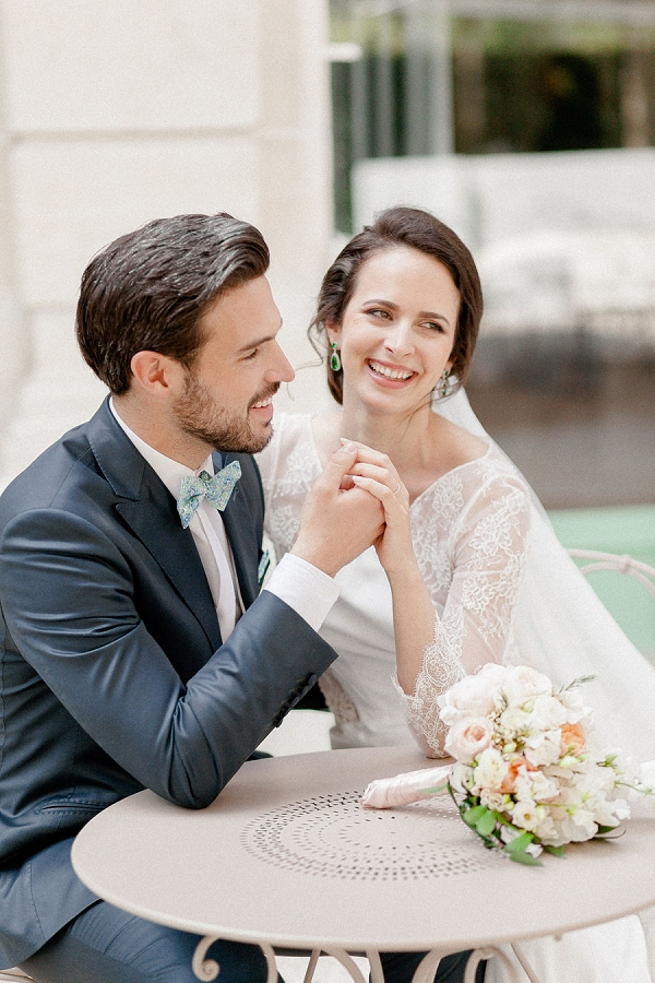 Emerald and Blush Wedding in Paris