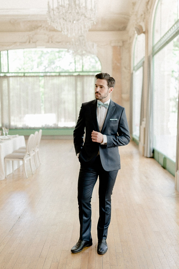 Stylish groom attire