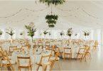 clean and modern wedding reception design