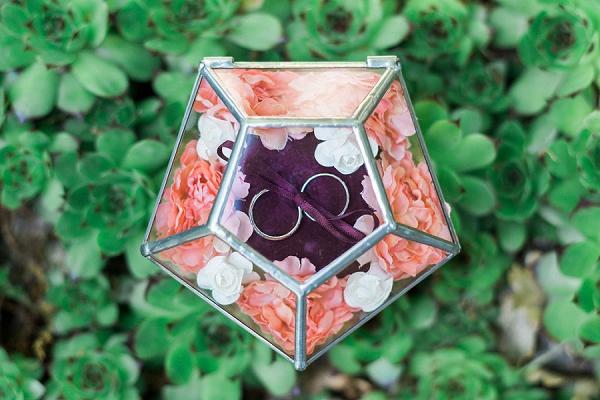 geometric wedding ring box