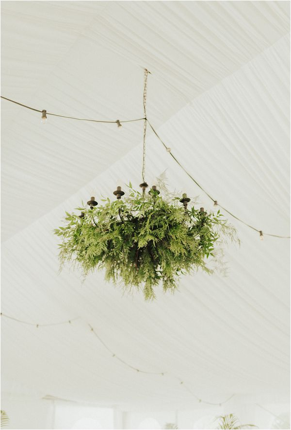 hanging foliage wedding reception ideas | Image by Matthias Toth
