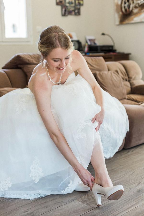 lace edged wedding dress