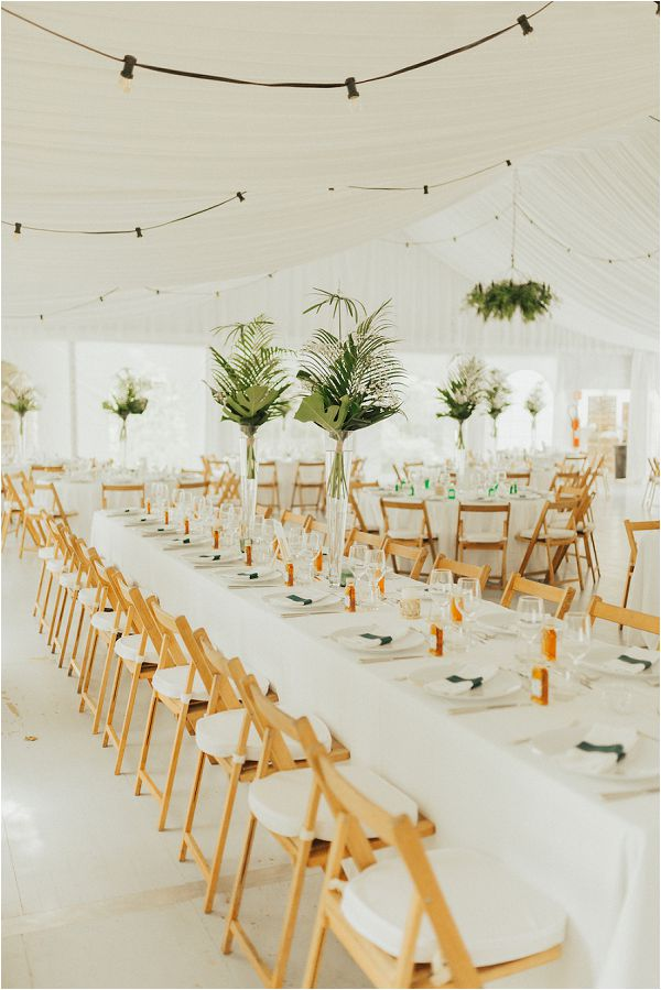 modern white wedding reception ideas