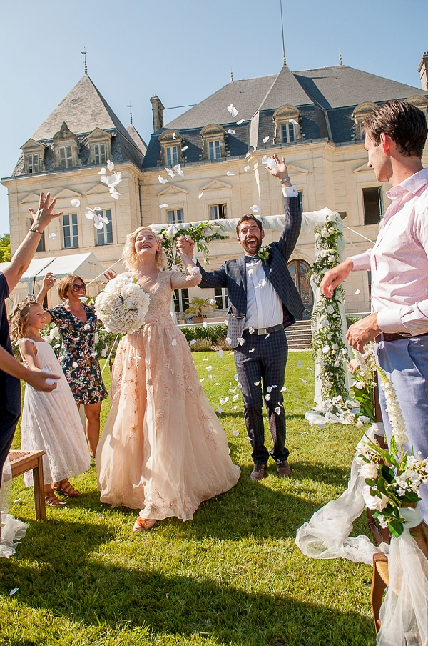 outdoor chateau wedding