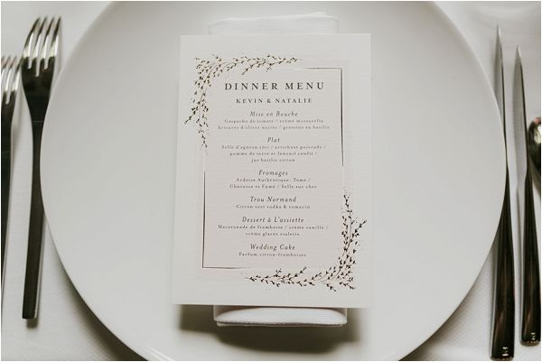 simple elegant wedding stationery * Images by Weddings Provence