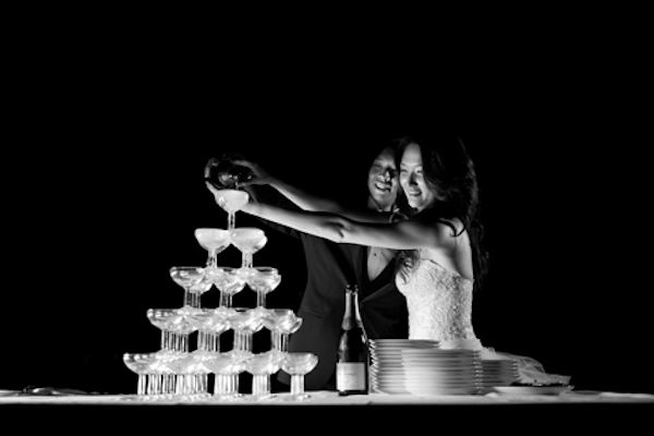 7 French Wedding Drinks Champagne Tower Studio Cabrelli