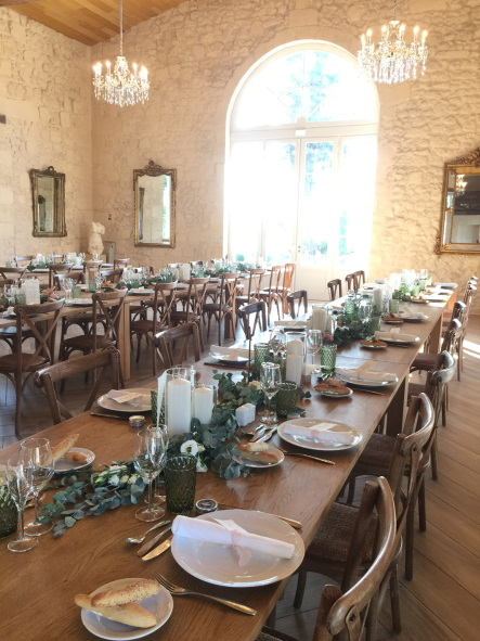 Chateau Gassies Long Table Setting