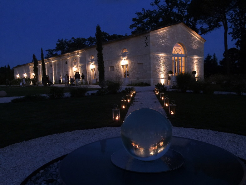 Chateau Gassies at night
