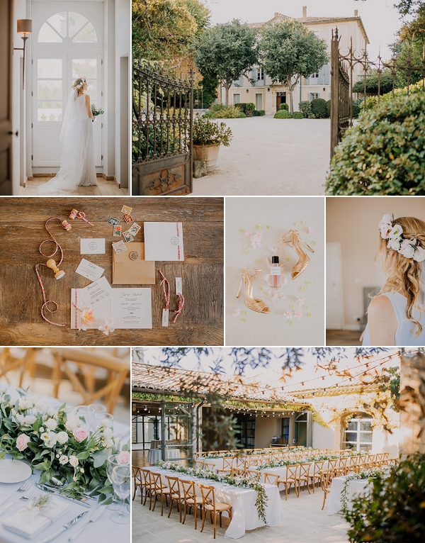 Outdoor wedding at Château la Tour Vaucros Snapshot