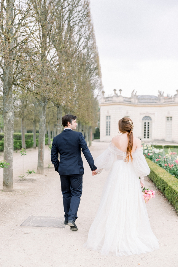 Palace of Versailles Wedding in Gardens
