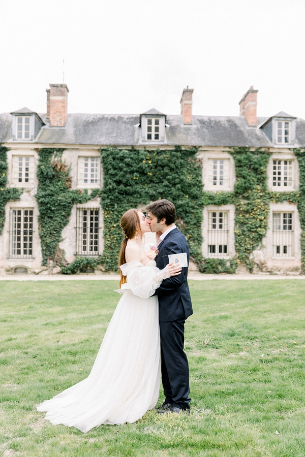french chateau wedding ceremony