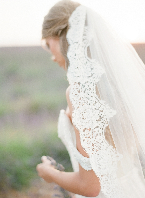 lace edged Christophe Alexandre Docquin veil