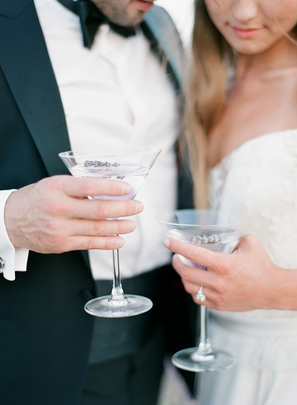 lavender wedding cocktail
