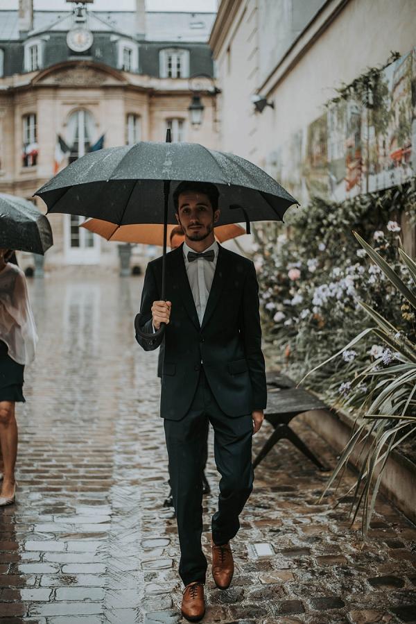 rainy wedding day france