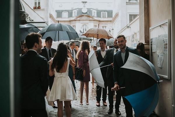 real wedding in the rain