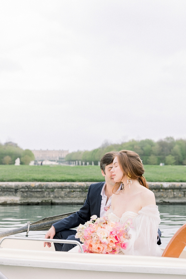 row boat wedding photo
