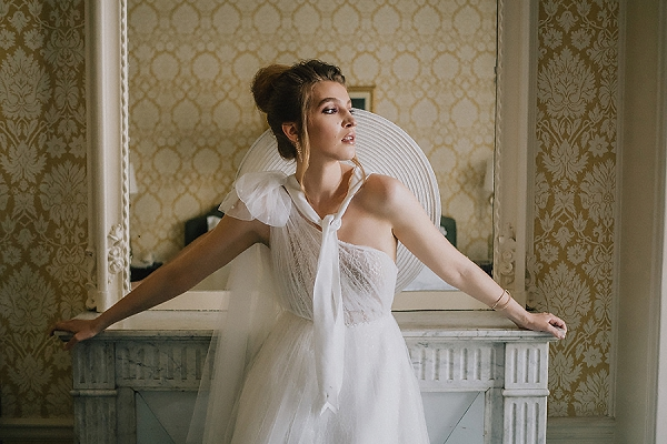 vintage inspired bridal look