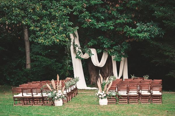 Boho style wedding at Chateau St Michel