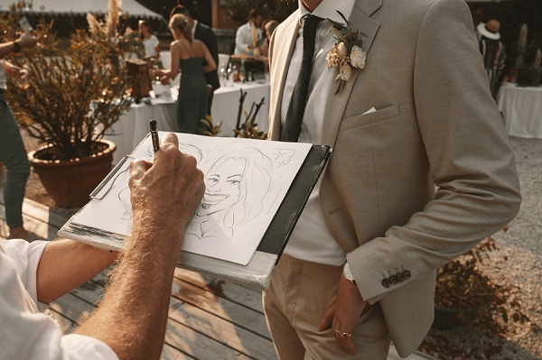 Caricaturist wedding france