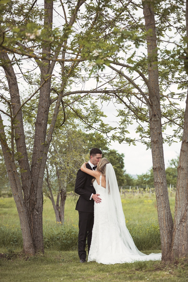 Chateau Rigaud bride and groom