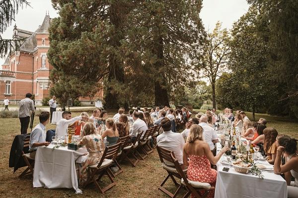Chateau St Michel outdoor wedding breakfast