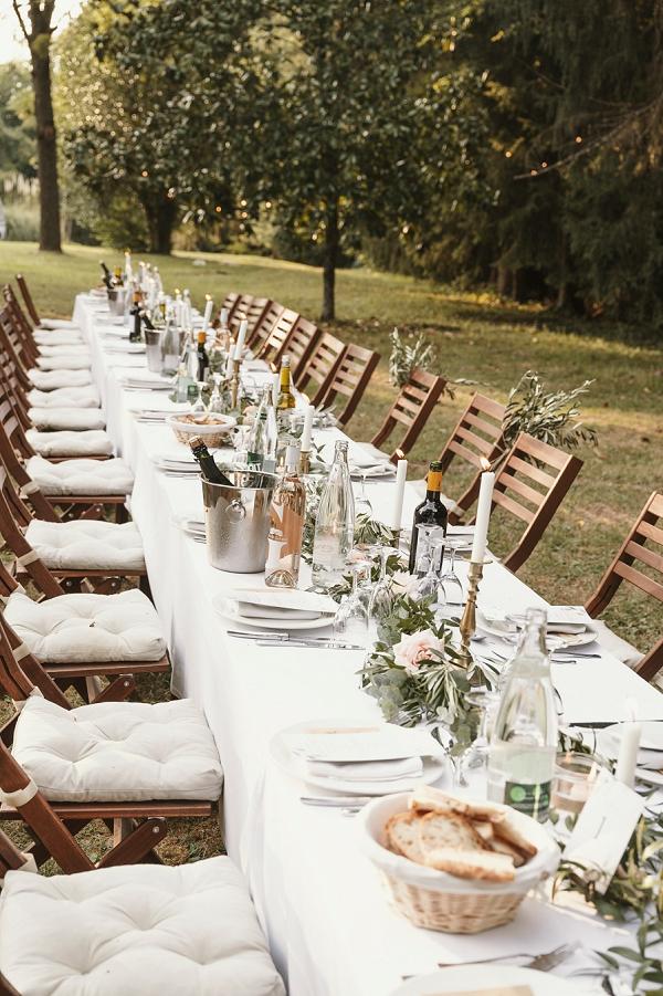 Chateau St Michel wedding breakfast