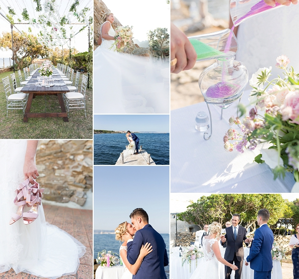 French wedding in Sardinia Snapshot