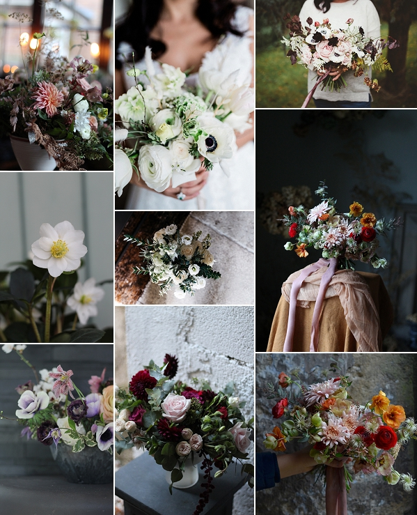 Winter Wedding Flower Ideas Snapshot