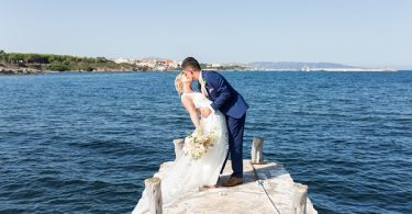 by the ocean wedding