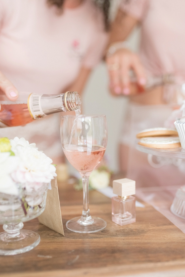champagne bridal morning