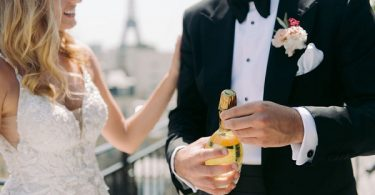 champagne wedding in paris