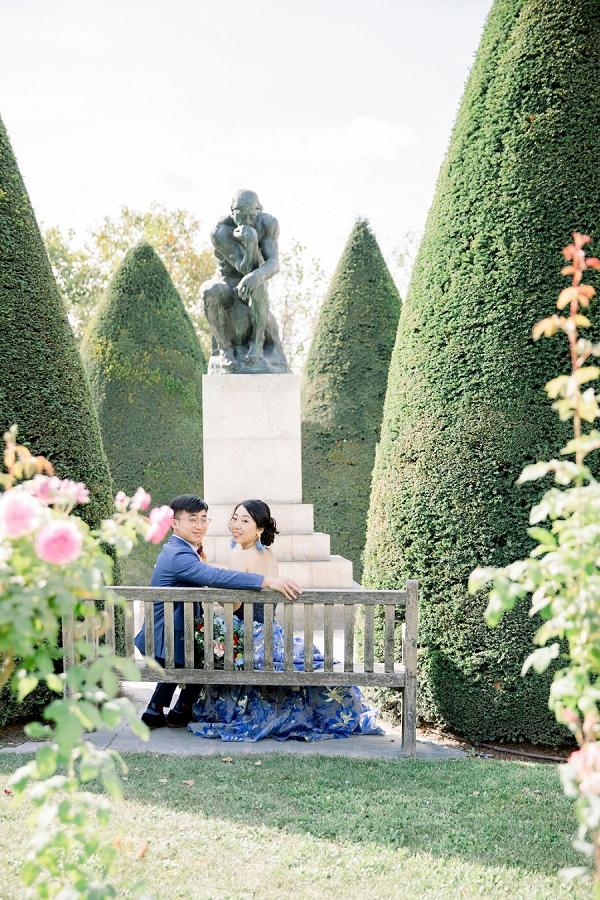 garden elopement in Rodin Museum