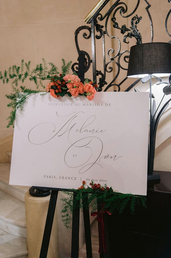 modern wedding sign