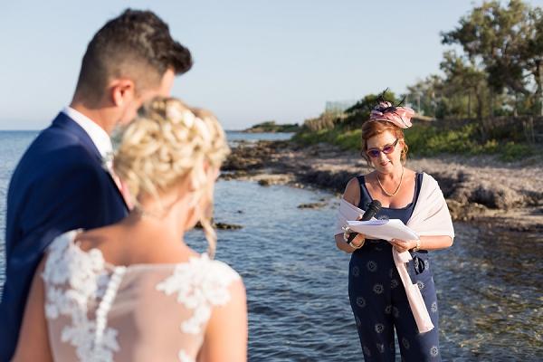 unique beach ceremony