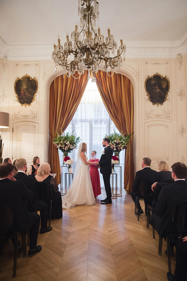 wedding in paris ceremony