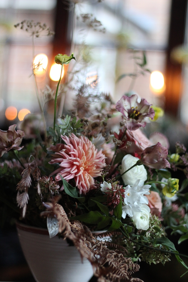 wild flower inspired Winter Wedding Flower