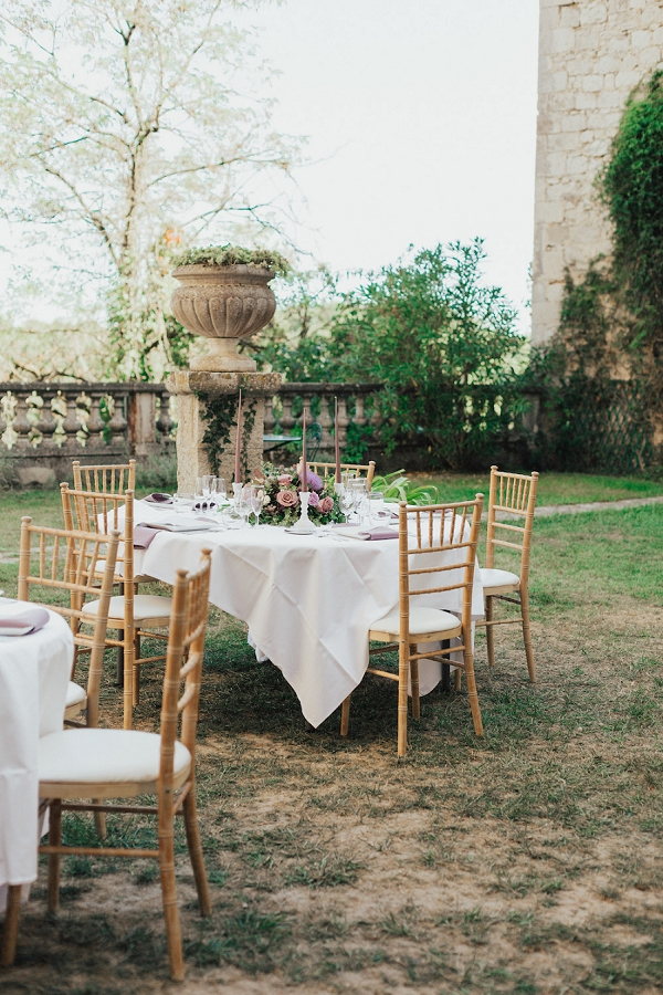 Chateau de Goudourville wedding breakfast