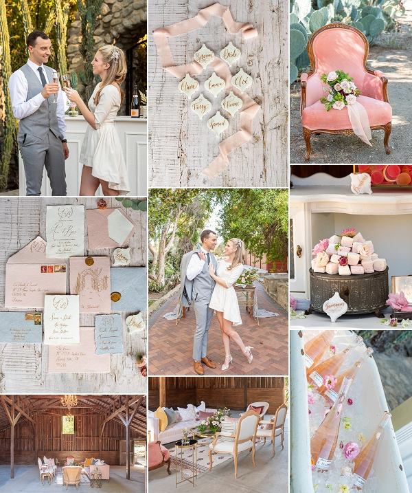 French Styled Wedding in California Snapshot