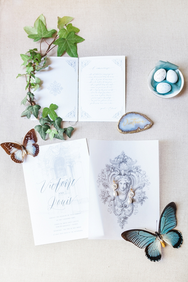 Ivy cousin wedding stationery