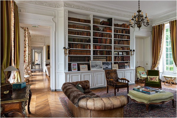 The library, stocked with books dating back centuries