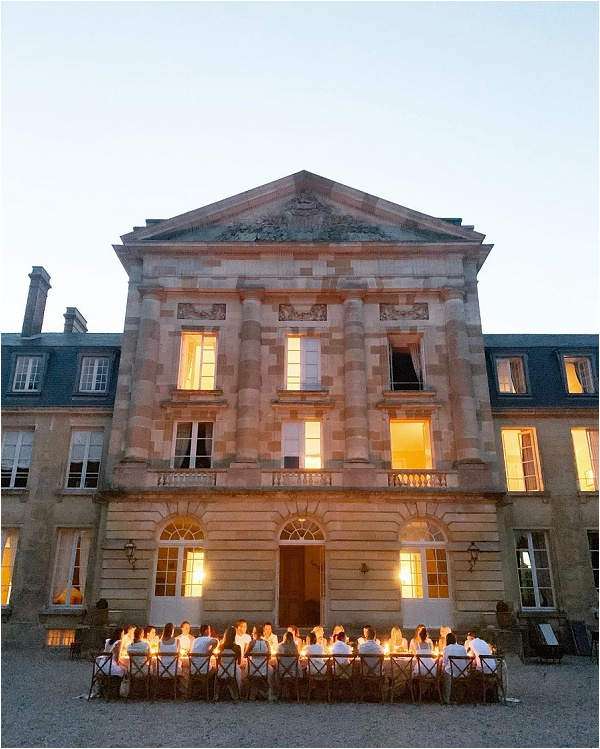 The sun goes down on a perfect wedding day in Normandy