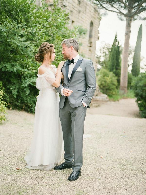 french riviera bow tie wedding