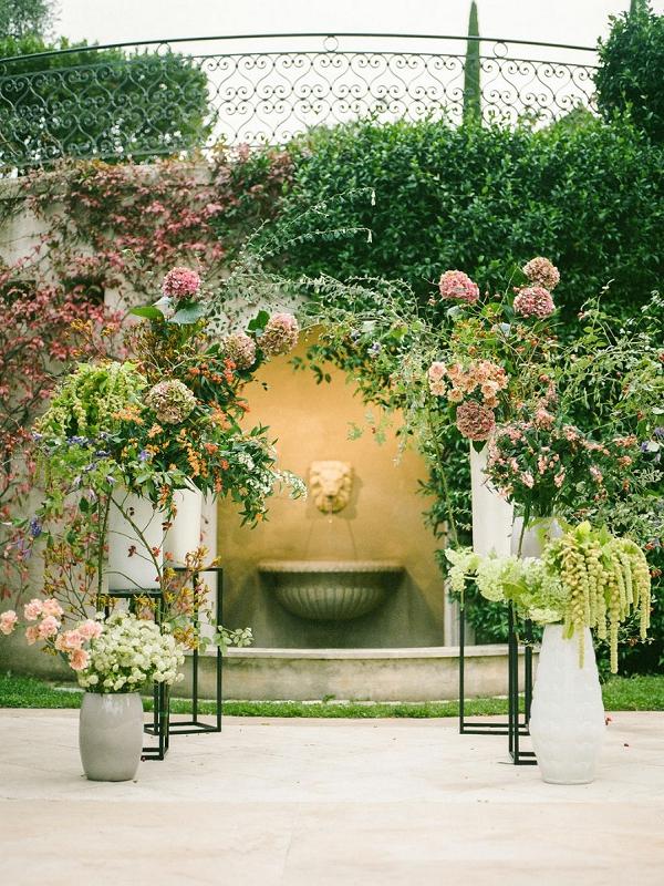 modern floral arch