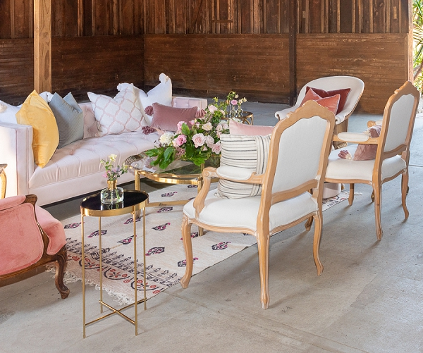 wedding day lounge furniture