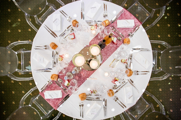 Château des Lys wedding meal